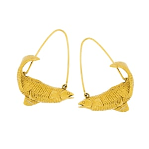 Pisces gold earrings, £435, givenchy.com