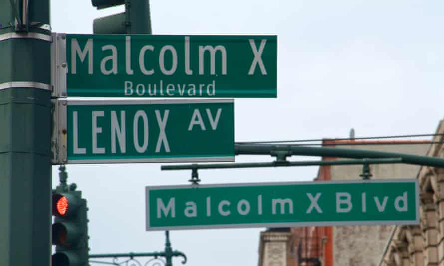 Malcolm X boulevard, which is the main north–south route through Harlem in the upper area of Manhattan, New York.