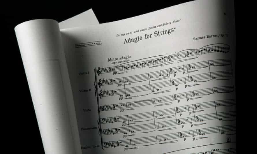 Sheet music: Samuel Barber Adagio for Strings
