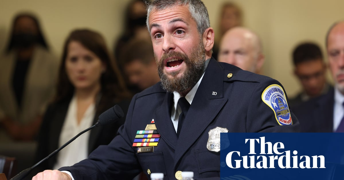 Capitol riot police officer: 'I was at risk of being killed with my own firearm' – video