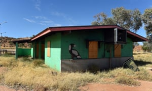 A boarded, derelict house near Alice Springs