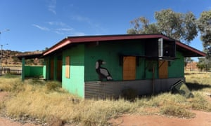 A boarded, derelict house near Alice Springs.
