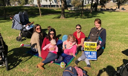 Residents take part in the Fridays for the Future picnic protest