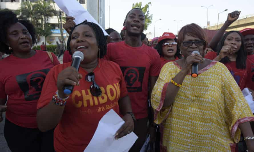 Members of the Bring Back Our Girls movement in Lagos