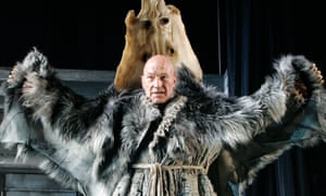 Brave new furs ... Stewart as Prospero in the RSC's The Tempest in 2006.