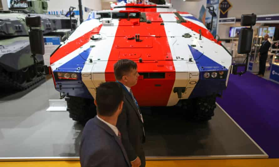 Military Hardware On Show At Defence And Security Equipment International (DSEI) Exhibition