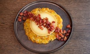'A nutritional outrage and therefore completely marvellous': rosti with lardons.