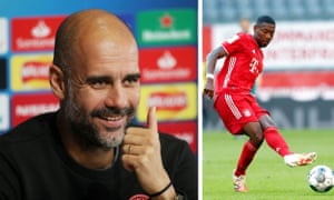 Bayern Munich's David Alaba (right) can play at left-back and centre-back, two positions in which Manchester City's manager, Pep Guardiola, wants to strengthen.