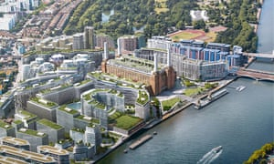 A computer-generated view of plans for the Battersea power station area