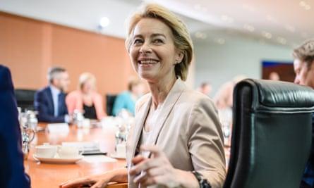 Newly elected European Commission president, Ursula Von der Leyen