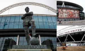 Wembley Stadium, Emirates Stadium and The London Stadium.