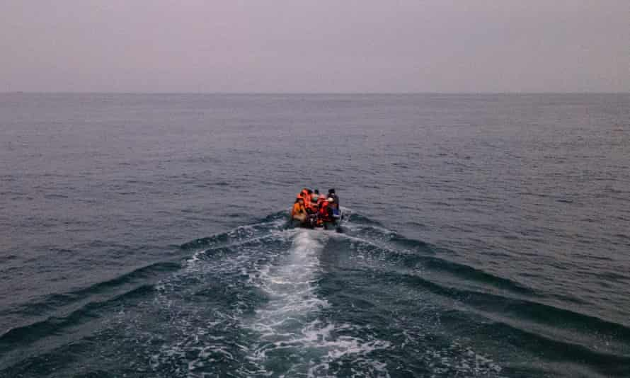Migrants try to cross the Channel in September
