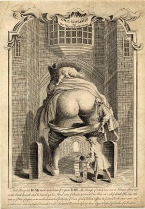 Idol-Worship or the way to preferment, a satire on Walpole.