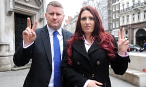 Paul Golding and Jayda Fransen of Britain First.