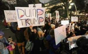Tokyo Protesters march in an anti-Trump rally
