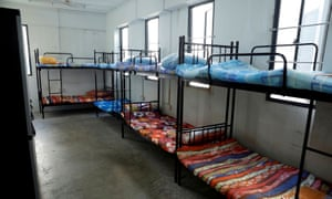 View of a dormitory room for migrant workers who have recovered from coronavirus amid the outbreak in Singapore, 15 May 2020.