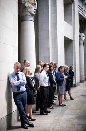 office workers fall silent to mark ten years since 7/7 bombings in London