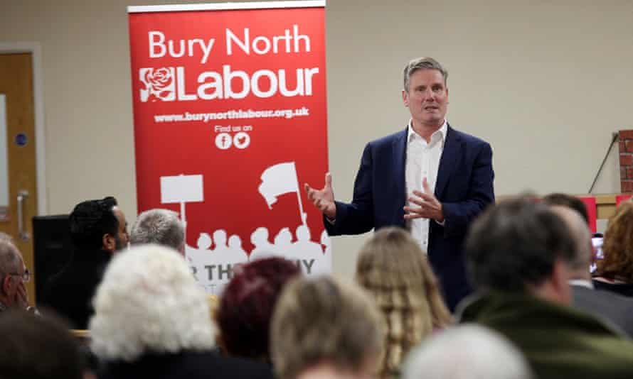 Keir Starmer gives his leadership pitch in Bury.