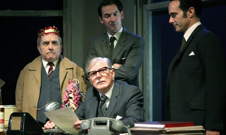 Stephen Moore, seated, in Harold Pinter's The Hothouse at the Lyttelton theatre, London, in 2007.