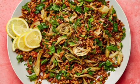 Meera Sodha's vegan recipe for roast fennel, sun-dried tomato and spelt salad