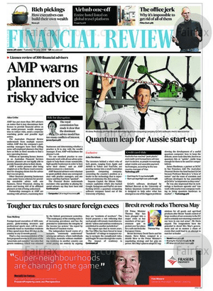 AFR front page