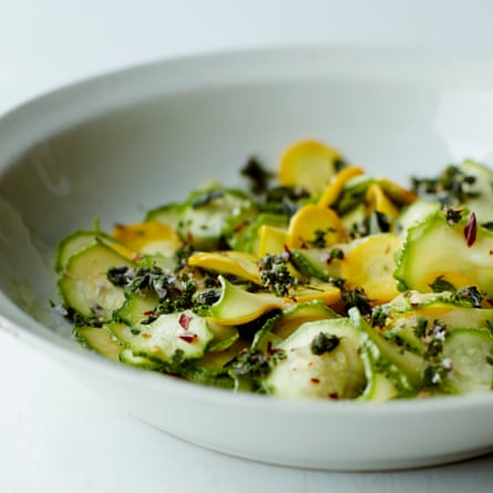 Salted courgettes.