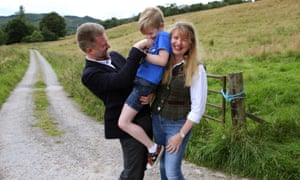 Gregg and Kathryn Brain, with their son Lachlan at their home in Dingwall in Scotland. 'Debates about being 'swamped' by immigrants never seem to centre on antipodeans with Anglo-Saxon origins.'