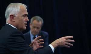 Malcolm Turnbull and Bill Shorten at the Facebook-hosted leaders' debate in Sydney