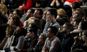 Supporters of presidential nominee Hillary Clinton react to Donald Trump's election victory.