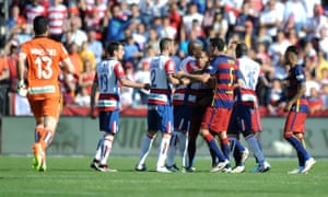 The players square up in Granada.