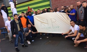 Detainees staged a protest at Harmondsworth about Oscar Okwurime's death.