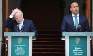 Boris Johnson meets Leo Varadkar in Dublin