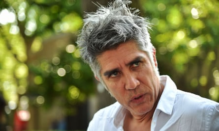 Chilean architect, Alejandro Aravena, speaks at the opening of the 15th international architecture exhibition in Venice on May 25.