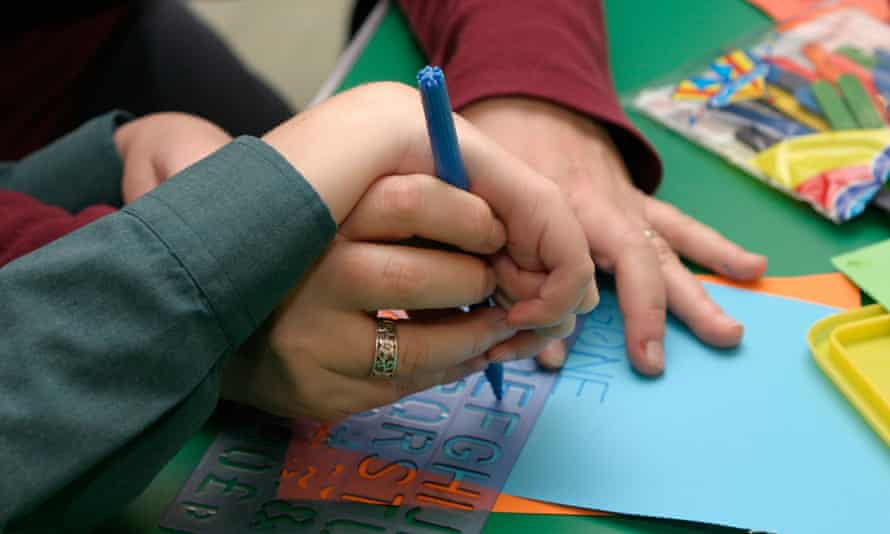 Special needs children learning to write