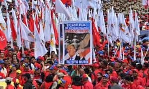 Protest in support of Venezuelan president, Nicolás Maduro