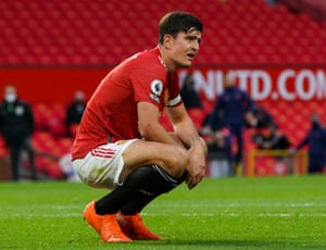 A dejected Harry Maguire at the end of the match