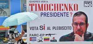 A billboard with an image of Timochenko