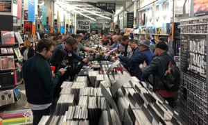 'Cheapness is not a main goal, celebrating art is' ... shoppers in Rough Trade East, London, on Record Store Day in 2018.