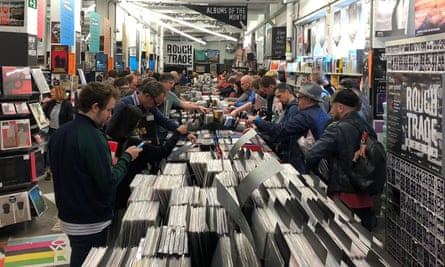 Shoppers in Rough Trade East, London, on Record Store Day in 2018.