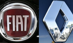 Logos of Fiat and Renault