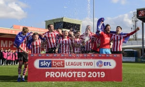 They are going up: Lincoln are the only Football League side to have secured promotion so far.