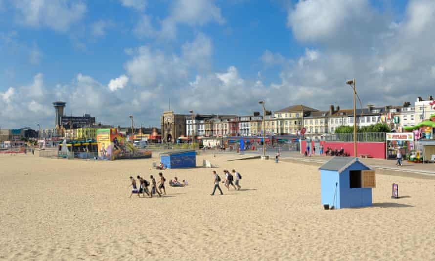 Great Yarmouth's sandy beach before the lockdown.
