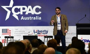 British political activist Raheem Kassam at CPAC.