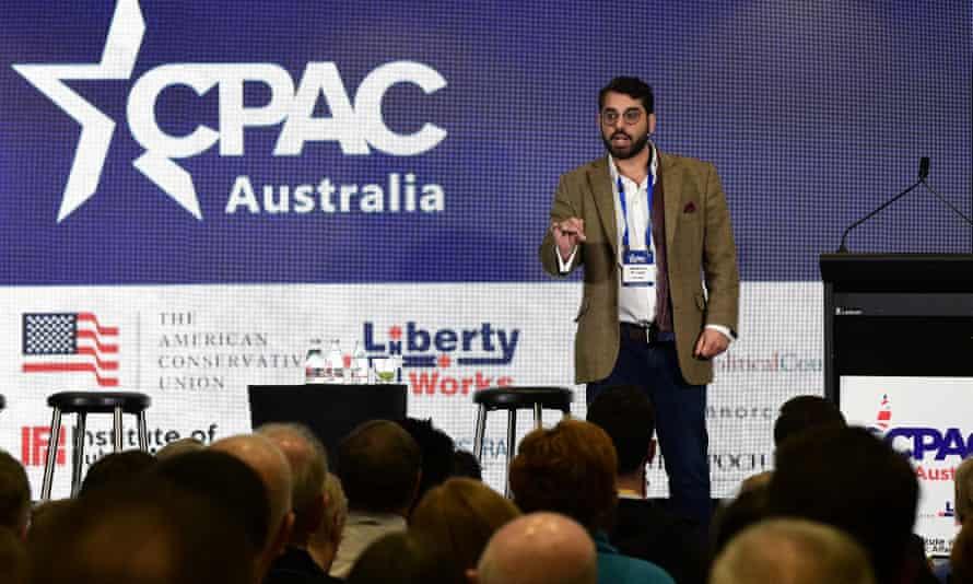 British political activist Raheem Kassam at CPAC.