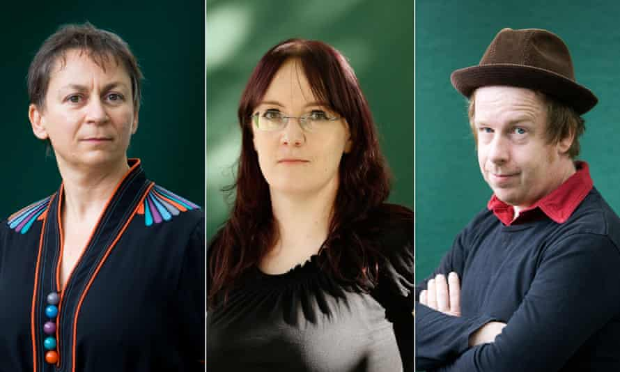 Irish writers, Anne Enright, Lisa McInerney and Kevin Barry
