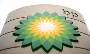 BP logo is pictured at a petrol station in central London