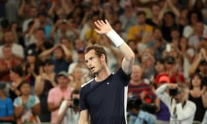 Murray salutes the crowd after losing the match