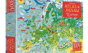 Usborne Atlas And Jigsaw Europe