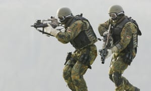 Kommando Spezialkraefte, German Bundeswehr's special forces, take part in a training exercise in Germany.