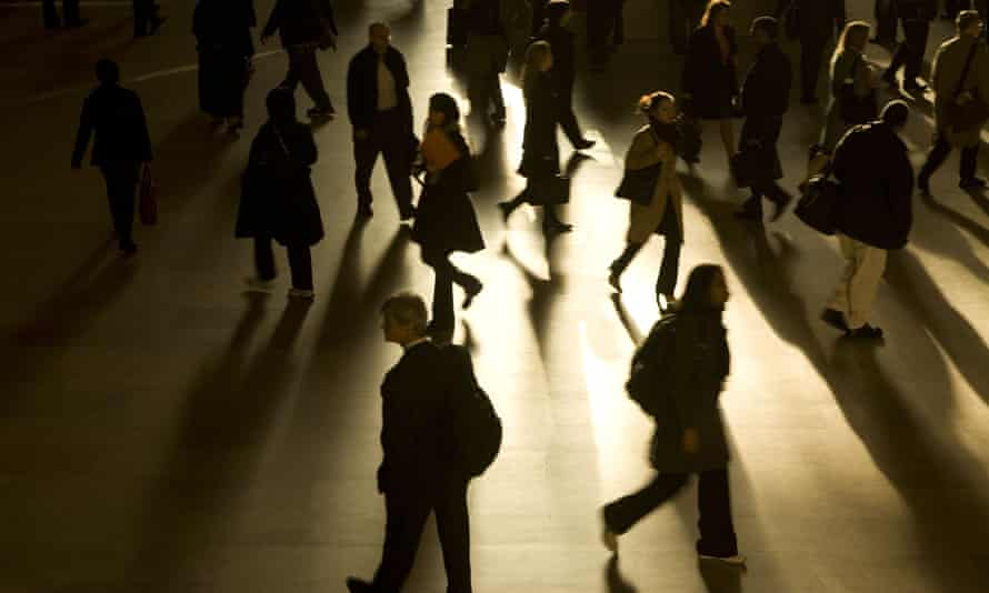 Workers pour through Grand Central Station every morning on their way to work in the Big Apple
